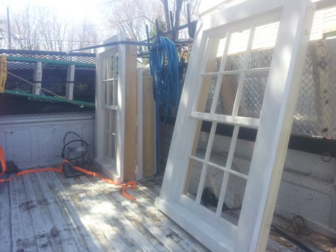 Six Over Reproduction Plank Frame Wood Windows Ready To Install