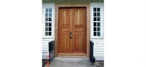 Restoration of Double Hung Sidelights for Double Doors